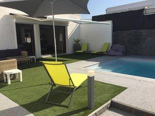 VILLA/MAISON 120m2 avec piscine chauffée à 200m de la plage REMB SANIT 100%