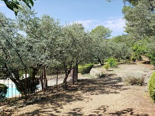 Comfortable provencal villa with great views, pool, garden & 60+ olive trees