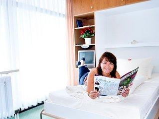 App. 1-Pers. Komfort | helles Appartement mit separater Kleinküche
