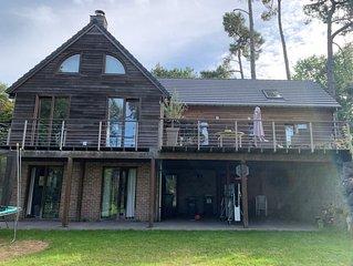Maison en bois Haut de Gamme, sur Golf d'Hardelot, idéal 2/ 3 familles, 10 P