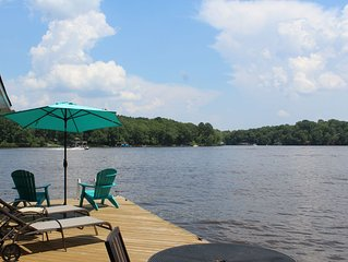 Off season rates now in effect! Lakefront house with private dock!