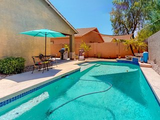 Lovely desert home with a private pool, free Wifi and outdoor area