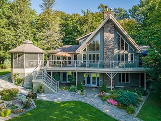 Stewart Lake Retreat~Gorgeous beachfront with all the bells & whistles!