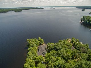 Whispering Pines ~ set on a private peninsula on Lake Muskoka!
