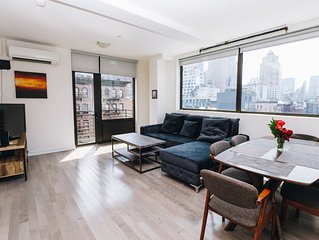 Unique 2BR with balconies and elevator