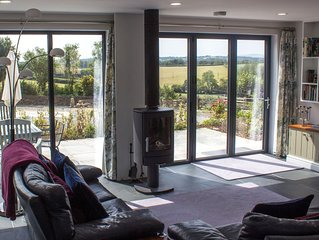High spec contemporary wood framed house - fantastic views