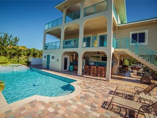 FloridaKeysVacationVillas - Sombrero Beach, Waterfront, Heated Pool, Dock, Spa,