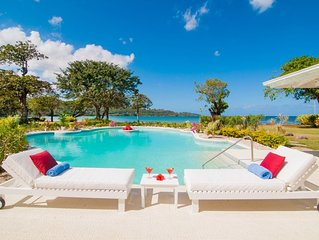 NOBLE HOUSE JAMAICA - Luxury 5 Bed Beachfront Villa in Montego Bay - Staff Inclu
