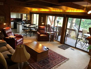 Falling Waters ~ 2br/2ba Luxurious Mountain Condo on Toxaway Falls, Secluded
