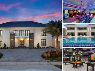 The White House at Reunion | 12,982 Sq. Ft. Villa with Two Lane Bowling Alley