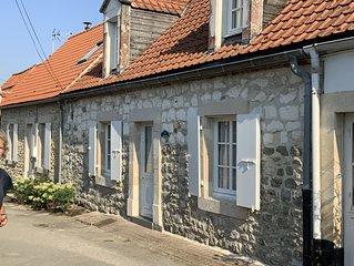 Maison de pecheurs au coeur du village de wissant