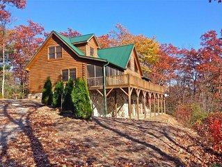 Log Cabin Views, Theater Room, Pool/Foosball table, Hot Tub, Fireplace