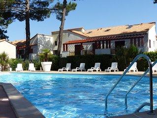 La Palmyre appart. terrasse plein sud, piscine, proximite plage, 4 pers.