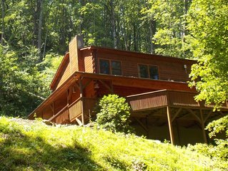 Beautiful 7 Br Log Cabin Located In Smoky Mtns