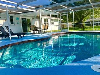 Pool Home Oasis-- Minutes to Beach!