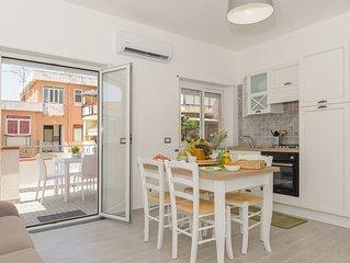Ganzirri Suite, rifinito appartamento (4 p.letto) con veranda