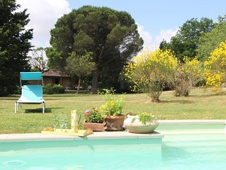 Beautifully restored 16th C farmhouse w/ exclusive pool, woodlands, olive groves