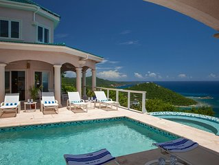 Stunning Villa with, Pool, Hot Tub, 180 Degree Sweeping Ocean Views