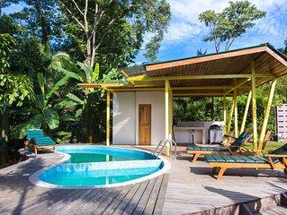 Beachfront Villa Oceano with AC & Pool
