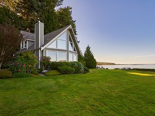 Open Design West Coast Home on 1600 Feet of Private Waterfront