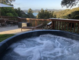 2 Bedroom Apartment - Native Bush with sea views and hot tub.