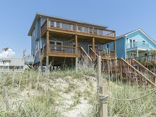 The Bessie-B: 4 Bed/3 Bath Oceanfront Home with Covered Porch and Picnic Table