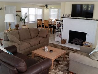 Spacious 3BR cozy house. Steps from the beach.  Includes a beach pass!