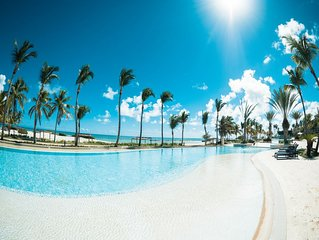 OCEAN FRONT,AQUAMARINA. CAP CANA, PRIVATE BEACH.  VIP LUXURY OPTION