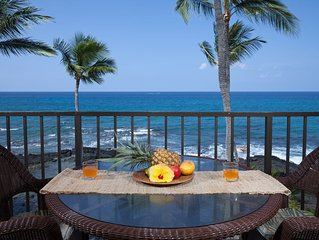 Amazing Oceanfront Penthouse with Stunning Views From The Lanai! - Kona Bali Kai
