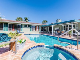 Sprawling Home with Pool, Billiards & Privacy; Walk To The Beach & Restaurants
