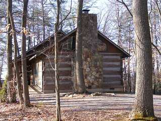 Historic log cabin with accommodations for up to 10