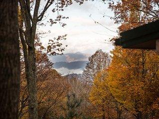 10 mins to Lake Junaluska and downtown Waynesville. Gorgeous view & Pet friendly