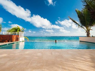 4BR-Kai Vista: Luxury Oceanfront Villa in Rum Point with Private Pool
