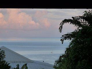 Villa créole vue mer piscine le carbet de rose
