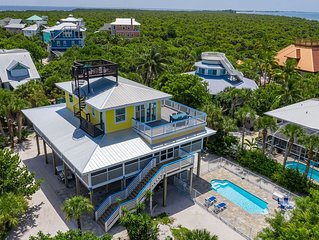 The Maine Deck  Breathtaking Views - Pool- Steps to the beach - 2 Golf Carts!