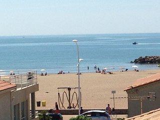 50m de la plage, Grande terrasse vue sur mer,  Appartement Standing WIFI garage