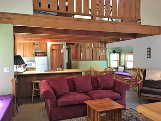 Quiet River Front- Eco Friendly - Easy walk to beach or town. Pool in Summer.