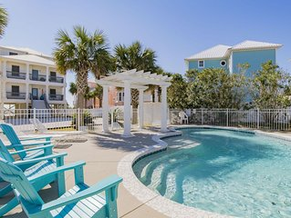 'Romar House at Beachside'Great Location-Gulf-Front Home-Private-Pool.Sleeps 21
