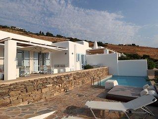 Nah am Golden Beach - Villa mit privatem Pool und Panoramablick auf die Ägäis