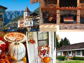 Fall Folliage at the Farmhouse which is located minutes outside of Leavenworth