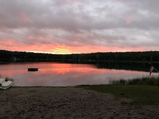 HUGE Northern MI Lodge perfect for Families & Groups on 2 LAKES! Ski-Fish-Boat!