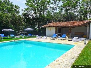 Superbe maison avec tennis, Jardin de 18 000M2
