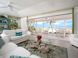 5BR-Two Rainbows: Oceanfront Private Villa in Rum Point-Gorgeous Barefoot Beach!