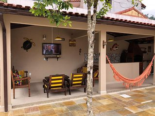 Garatucaia - Casa com piscina e Wi-fi pertinho da praia de Garatucaia