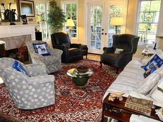 Rockridge Architect Designed House--Gracious Interiors & Beautiful Outdoor Space