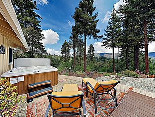 """New Listing! Mountain-View """"Redwood Enchantment"""" w/ Hot Tub & Outdoor Living"""