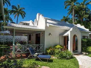 Beautiful Large Villa Des Anges Cottage steps to Beach AC WiFI private gardens
