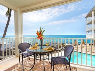 Real Oceanfront in Kona Walk 2 Beach & Town - New Remodel - AC Quite Location