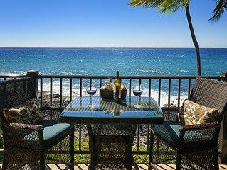180 degree TRUE ocean front views, corner unit, private complex, pool, AC, beach