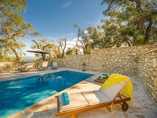 Villa Lenio,  enjoy fine views over the olive trees to the Ionian sea